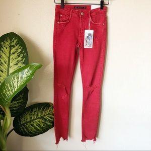 Zara | Distressed Skinny Jeans